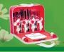 Набор для пикника на 4 персоны из 26 предметов в сумке T3044