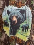 """Футболка камуфляжная с рисунком """"Медведица с медвежатами"""""""